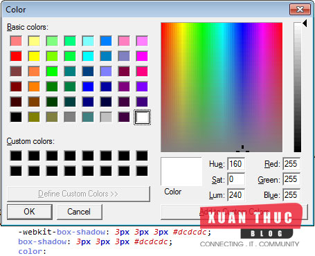 Hướng dẫn Plugin Color Picker Sublime Text 2